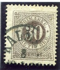 SWEDEN;  1877-79 early classic ' ore ' issue fine used 30ore. fair Postmark