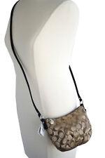 COACH Brown Signature Designer Crossbody Shoulder Bag Hobo Pouch Purse NWT