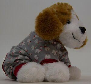 Pet Central Festive Gray & Red Llama Happy Christmas Pajama PJ's Size Small NWT