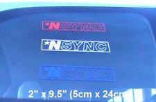 "Vintage 1999 Nsync Letters/Star Logo Car/Truck Vinyl Decal Sticker 2"" x 9.5"" New"