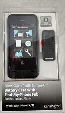 Kensington PowerGuard iPhone 4/4S Battery Case w/ Find-my-Phone Fob Black