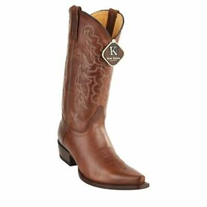 Men's King Exotic Snip Toe Pull Up Leather Boots Handmade