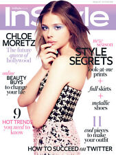 INSTYLE In Style  Magazine August 2013, Chloe Moretz Kick Ass,Brit Marling NEW