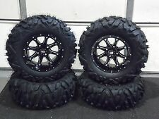 "YAMAHA VIKING / F1 27"" QUADKING 14"" HD4 ATV TIRE & WHEEL KIT IRSL8 BIGGHORN"