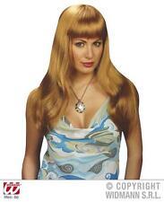 Long Blonde Fringe Wig Towie Essex Barbie Pop Star Glamour Model Fancy Dress