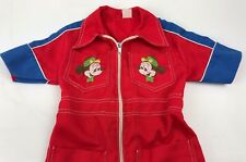 Vintage Embroidered Mickey Mechanic's Red Coveralls for Toddler 12mo Slim