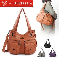 Women PU Leather Soft Shoulder Bag Tote Purse Handbag Crossbody Satchel Travel