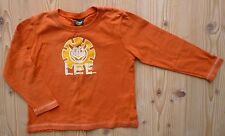 LEE KINDZ Langarmshirt KATZE Gr 98 104 orange Sweat Spruch Shirt Pulli Hemd