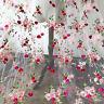 Pfirsich Blüte Kostüm Spitze Stoff Bestickt Braut Abendkleid Basteln Tüll