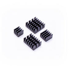 Aluminum Kühlkörper Kit in Schwarz für Raspberry Pi 4 4tlg. Set inkl. Klebefolie
