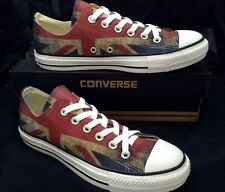 Converse All Star Low Distressed Chuck Taylor UK British Pride Union Jack Shoes