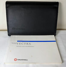 VAUXHALL VECTRA OWNERS MANUAL HANDBOOK WITH WALLET 1997