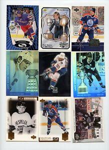 Lot Of (108) Wayne Gretzky Premium Insert Cards Starquest Ice Ultra SPx Score UD