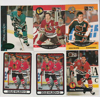 (32) card Doug Wilson mixed lot, Chicago Blackhawks legend