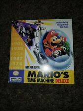 Mario's Time Machine Deluxe MACHINTOSH CD kids history historical