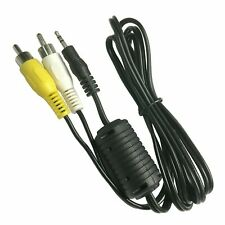 2.5mm Aux Stereo Male Plug to 2-RCA Yellow White Male Audio Video Cable Cord