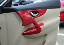 Red Carbon fiber style Inner Door Panel Decor Cover For Nissan  X-TRAIL 17-2020