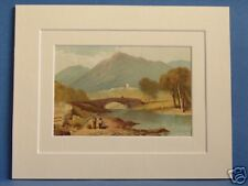 AMBLESIDE LAKE DISTRICT CUMBRIA ANTIQUE 1879 PRINT WARD