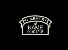 In Memory of Banner RIP Remembrance Embroidered Badge Patch