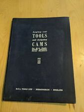 1955 BSA TOOLS BIRMINGHAM LAYING OUT TOOLS DESIGNING CAMS HARDCOVER BOOK 123 PGS