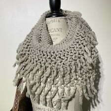 Womans American Eagle Outfitters Soft Fringed Winter Scarf Snood