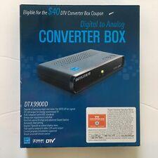 Digital Stream Digital to Analog TV Tuner Converter Box DTX9900D NEW Remote