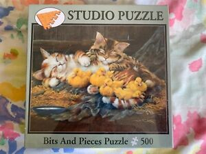 Siesta jigsaw puzzle 500 piece Cats baby ducks Bits and Pieces Lynne Jones, NEW