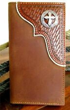 Nocona Western Mens Wallet Rodeo Tooled Cross Concho Saddle N54290217