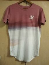 SIKSILK - TWO TONE FADE EMBROIDERED T SHIRT