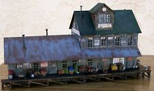 HO Custom Built & Nicely Detailed-FREIGHT STATION/WAREHOUSE BUILDING w/Extra's