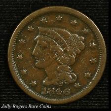 Large Cent Braided Hair. 1846 Circulated. N-4