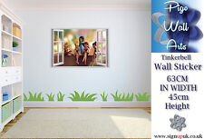 Tinkerbell Wall Sticker Children's bedroom Disney's 3D Window DECAL large