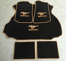 Autoteppich Fußmatten Kofferraum Set für Ford Mustang Coupe 1994-04 5tlg. beige