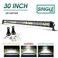 New 30INCH Single Row Super Slim LED Light Bar 6000K Combo Beam offroad SUV ATV