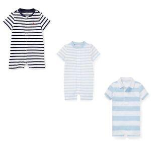 New Ralph Lauren Baby Boy's Cotton Jersey Shortall SIZE 3M,6M,9M MSRP:$29.50