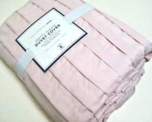 Pottery Barn Teen Pale Blush Pink Pretty Pleats Twin Duvet Cover New