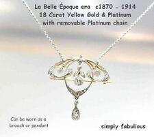 Diamond Platinum Art Nouveau (1895-1910) Fine Jewellery