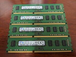Samsung 32GB (4x8GB) 2Rx8 PC3-12800U 1600Mhz DDR3 RAM Memory M378B1G73EB0-CK0