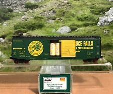N SCALE ENTHUSIAST SPRUCE FALLS POWER & PAPER CO. 50' BOX CAR WITH PAPER ROLLS