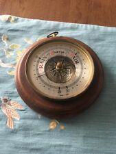 New listing Vintage Fischer Gdr Wooden Case Barometer