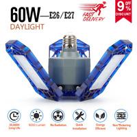 60W Indoor Deformable LED Garage Lights Home Industrial High Bay Ceiling Lights