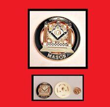 Gp Masonic Master Mason Blue Lodge & All Seeing Eye Freemason Lapel Pin hat