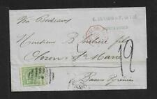 URUGUAY TO FRANCE 10cts ON COVER 1873