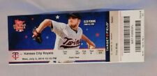 Minnesota Twins Vs Kansas City Royals 7/2/14 Ticket Stub Raul Ibanez Home run