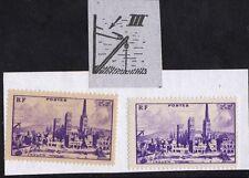 VARIÉTÉ - N°745 (type III papier jaunâtre + le type III papier blanc )  Neufs**