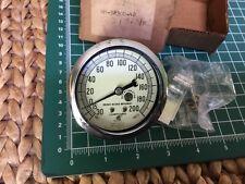 Vintage Marsh Instrument Co Bronze Bushed Movement Pressure Gauge 0-200