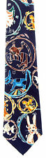 House Pets Mens Necktie Dog Cat Rabbit Fish Chicken Mouse Animal Blue Tie New