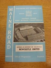 05/11/1966 Manchester City v Newcastle United  (Score Noted Inside).  This item