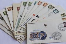 Berlin - Ersttagsbriefe 1961 - FDC - Bedeutende Deutsche - komplett
