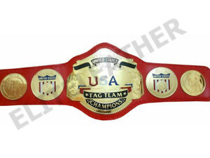 NWA United States Tag Team Heavyweight Wrestling Title Belt Adult Size